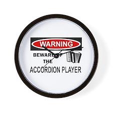 Accordion Player Wall Clock
