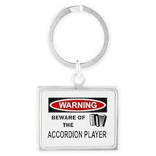 Accordion Player Landscape Keychain