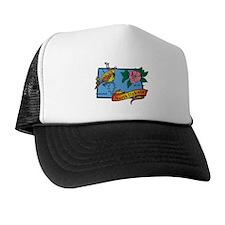 North Dakota Map Trucker Hat