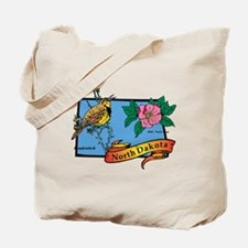 North Dakota Map Tote Bag