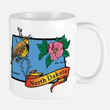 North Dakota Map Mug