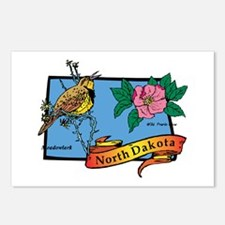 North Dakota Map Postcards (Package of 8)