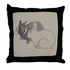 Abstract Rabbits Throw Pillow