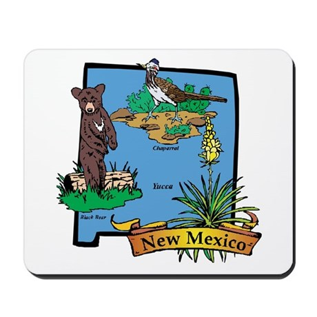 New Mexico Map Mousepad