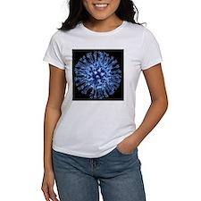 H1N1 flu virus particle, artwork - Tee