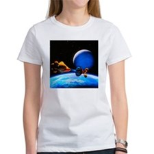 Spaceship arriving at a habitable planet - Tee
