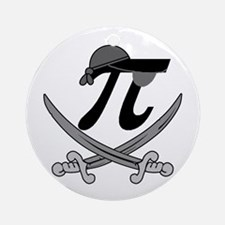 Pi - Rate Greyscale Ornament (Round)