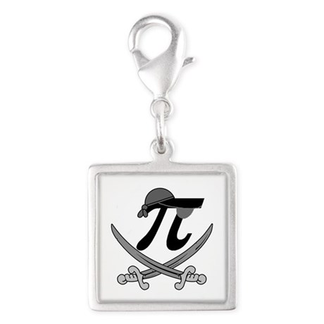 Pi - Rate Greyscale Silver Square Charm
