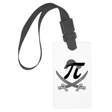 Pi - Rate Greyscale Large Luggage Tag