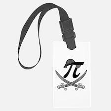 Pi - Rate Greyscale Luggage Tag