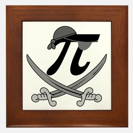 Pi - Rate Greyscale Framed Tile