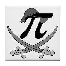 Pi - Rate Greyscale Tile Coaster