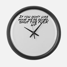 What fuck Large Wall Clock