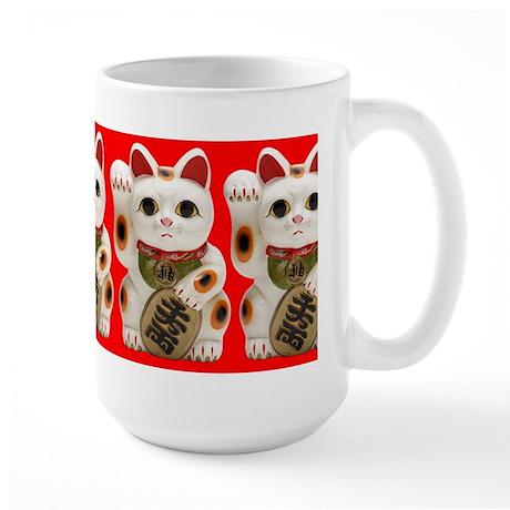 Cute Maneki Neko (Lucky Cat) Mug Large Mug