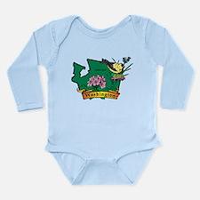 Washington Map Long Sleeve Infant Bodysuit