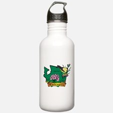 Washington Map Water Bottle