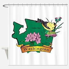 Washington Map Shower Curtain