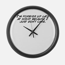 Cool Im late Large Wall Clock