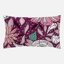 Retro Vintage Floral - Purple Pillow Case