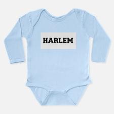 Harlem Logo Long Sleeve Infant Bodysuit