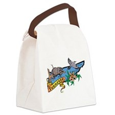 Tennessee Map Canvas Lunch Bag