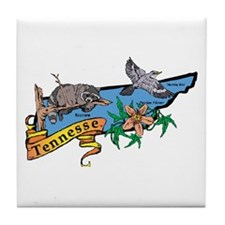 Tennessee Map Tile Coaster