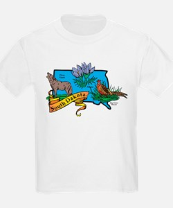 South Dakota Map T-Shirt