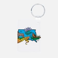 South Dakota Map Keychains