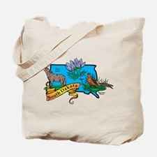 South Dakota Map Tote Bag