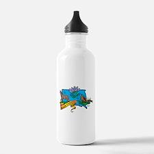 South Dakota Map Water Bottle