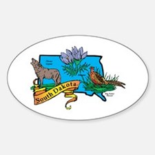 South Dakota Map Decal
