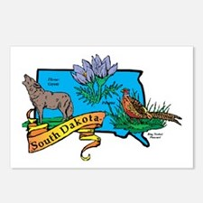 South Dakota Map Postcards (Package of 8)