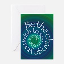 Be The Change Greeting Cards (Pk of 20)