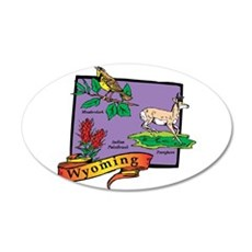 Wyoming Map Wall Decal