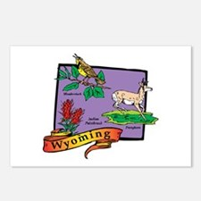 Wyoming Map Postcards (Package of 8)