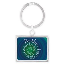 Be the Change Landscape Keychain