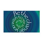 Be the Change 35x21 Wall Decal