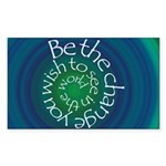 Be the Change Sticker (Rectangle 10 pk)