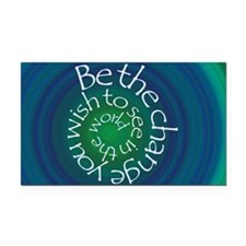 Be the Change Rectangle Car Magnet