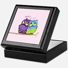 Owls in Love Keepsake Box