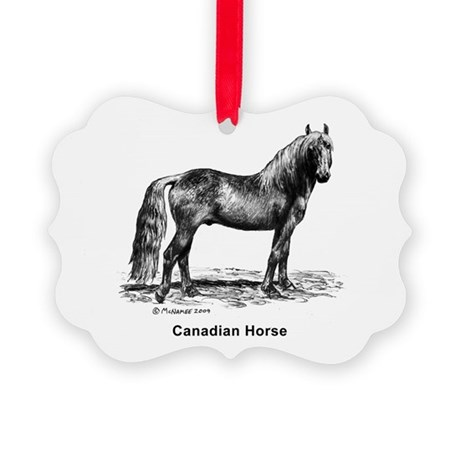 Canadian Horse Picture Ornament