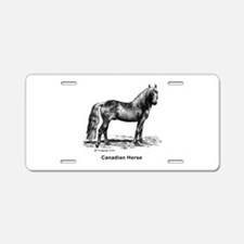 Canadian Horse Aluminum License Plate