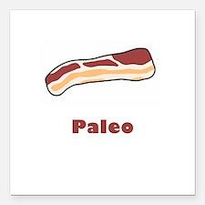 "Paleo Bacon Square Car Magnet 3"" x 3"""