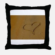 Love in The Sand Throw Pillow