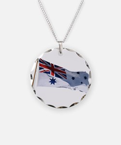 Naval Ensign of Australia waving Necklace