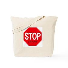 Stop Davian Tote Bag