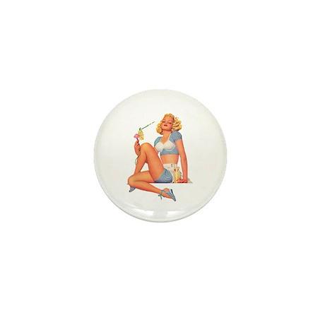Cool Breeze For A Hot Mama Mini Button