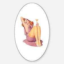 Bottoms Up! Sticker (Oval)