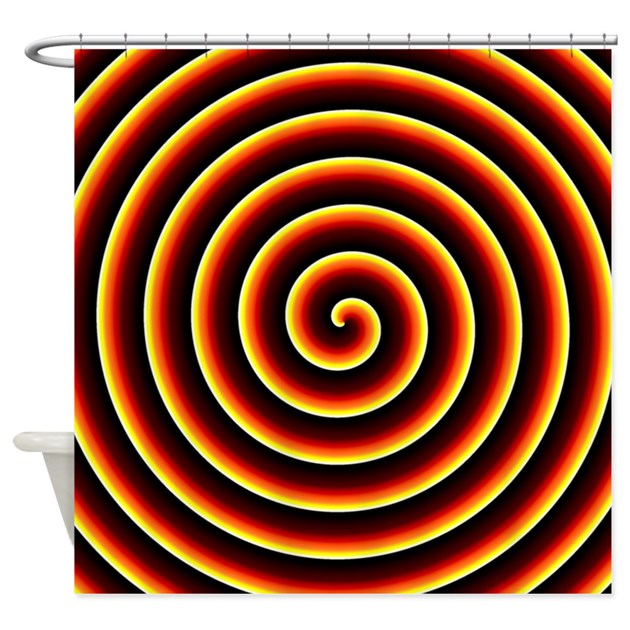 Fire Spiral Shower Curtain By Expressivemind