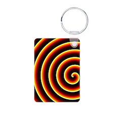 Fire Spiral Keychains